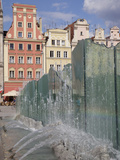 Market Square Architecture and Fountain, Old Town, Wroclaw, Silesia, Poland, Europe Photographic Print by Frank Fell