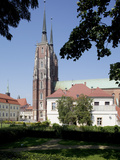 Cathedral and Gardens, Old Town, Wroclaw, Silesia, Poland, Europe Photographic Print by Frank Fell