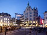 Restaurants at Dusk, Armagertorv, Copenhagen, Denmark, Scandinavia, Europe Photographic Print by Frank Fell