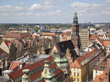 Old Town Rooftops Viewed from Marii Magdaleny Church, Wroclaw, Silesia, Poland, Europe Photographic Print by Frank Fell