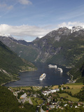 Geiranger Fjord, UNESCO World Heritage Site, More Og Romsdal, Norway, Scandinavia, Europe Photographic Print by Hans-Peter Merten