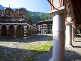 Courtyard and Church of the Nativity, Rila Monastery, UNESCO World Heritage Site, Nestled in the Ri Photographic Print by Dallas & John Heaton