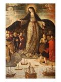 Retablo De La Virgen De Los Mareantes (Altarpiece of the Virgin De Los Mareantes), Real Alcazar De  Photographic Print by  Godong
