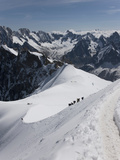 Aiguille Du Midi, View of the Mont Blanc Massif, Chamonix, Haute Savoie, French Alps, France, Europ Photographie par Angelo Cavalli