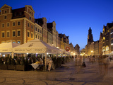 Restaurants, Market Square (Rynek), Old Town, Wroclaw, Silesia, Poland, Europe Photographic Print by Frank Fell