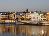 Bank of the Guadalquivir River, Seville, Andalucia, Spain, Europe Photographic Print by  Godong