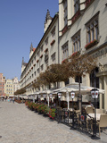 Market Square and Cafe, Old Town, Wroclaw, Silesia, Poland, Europe Photographic Print by Frank Fell