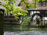 Mill at Blautopf, Blaubeuren, Swabian Mountains, Baden-Wurttemberg, Germany, Europe Photographic Print by Hans-Peter Merten