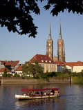 River Odra (River Oder) and Cathedral, Old Town, Wroclaw, Silesia, Poland, Europe Photographic Print by Frank Fell