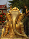 Ganesh Statue in Wat Deydos, Kompong Cham, Cambodia, Indochina, Southeast Asia Photographic Print by  Godong