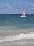 Catamaran, Bavaro Beach, Punta Cana, Dominican Republic, West Indies, Caribbean, Central America Photographic Print by Frank Fell