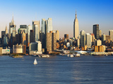 View of Midtown Manhattan across the Hudson River, Manhattan, New York City, New York, United State Photographic Print by Gavin Hellier