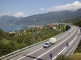 Lake and the S10 Road, Lake Iseo, Lombardy, Italian Lakes, Italy, Europe Photographic Print by Frank Fell