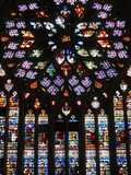 Last Judgment, Rose Window, St. Stephen's Cathedral, Sens, Yonne, Burgundy, France, Europe Photographic Print by  Godong