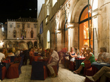 Nightlife, Dubrovnik, Dubrovnik-Neretva County, Croatia, Europe Photographic Print by Emanuele Ciccomartino