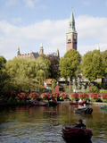 Tivoli Gardens and City Hall Clock Tower, Copenhagen, Denmark, Scandinavia, Europe Photographic Print by Frank Fell