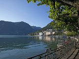 Lake of Lugano, Lugano, Canton Tessin, Switzerland, Europe Photographic Print by Angelo Cavalli