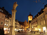 Salzstravue and Schwabentor, Old Town, Freiburg, Baden-Wurttemberg, Germany, Europe Photographic Print by Hans-Peter Merten