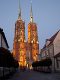 Cathedral at Dusk, Old Town, Wroclaw, Silesia, Poland, Europe Photographic Print by Frank Fell