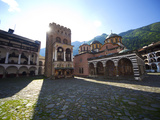 Courtyard, Church of the Nativity and Hrelyo's Tower, Rila Monastery, UNESCO World Heritage Site, N Photographic Print by Dallas & John Heaton