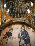 The Khalke Jesus Mosaic, Chora Church Museum, Istanbul, Turkey, Europe Photographic Print by  Godong