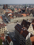 Market Square from St. Elisabeth Church, Old Town, Wroclaw, Silesia, Poland, Europe Photographie par Frank Fell