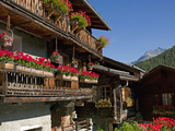 The Walser Village of Grimentz, Valais, Swiss Alps, Switzerland, Europe Photographic Print by Angelo Cavalli