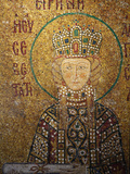 Mosaic of Empress Irene Holding a Scroll, Hagia Sophia, Istanbul, Turkey, Europe Photographic Print by  Godong