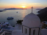 Fira, Santorini, Cyclades Islands, Greek Islands, Greece, Europe Photographic Print by Hans-Peter Merten