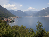 View of Lakeside Village, Lake Como, Lombardy, Italian Lakes, Italy, Europe Photographic Print by Frank Fell