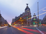 Gran Via and Calle De Alcala, Madrid, Spain, Europe Photographic Print by Angelo Cavalli