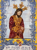 Azulejo Tilework Panel on Plaza De San Francisco, Malaga, Andalucia, Spain, Europe Photographie par  Godong