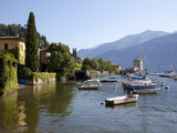 Boat Harbour and Lake Como, Bellagio, Lombardy, Italian Lakes, Italy, Europe Photographic Print by Frank Fell