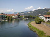 Brivio and River, Lake Como, Lombardy, Italian Lakes, Italy, Europe Photographic Print by Frank Fell