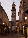 Church and Street Scene at Dusk, Parma, Emilia Romagna, Italy, Europe Photographic Print by Frank Fell