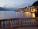 Promenade and Lake at Dusk, Bellagio, Lake Como, Lombardy, Italian Lakes, Italy, Europe Photographic Print by Frank Fell