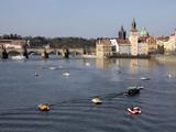 River Vltava, Old Town, Prague, Czech Republic, Europe Photographic Print by Hans-Peter Merten