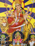 Picture of Hindu Goddess Durga, India, Asia Photographic Print by  Godong
