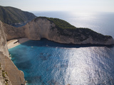 Shipwreck Bay, Zakynthos, Ionian Islands, Greek Islands, Greece, Europe Fotografisk tryk af Frank Fell