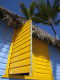 Colourful Hut, Bavaro Beach, Punta Cana, Dominican Republic, West Indies, Caribbean, Central Americ Photographic Print by Frank Fell
