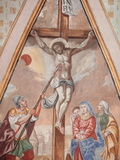 The Crucifixion, Our Lady of Assumption Church, Cordon, Haute-Savoie, France, Europe Photographic Print by  Godong