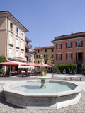 Piazza and Fountain, Menaggio, Lake Como, Lombardy, Italy, Europe Photographic Print by Frank Fell