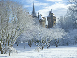 Cardiff Castle in Snow, Bute Park, South Wales, Wales, United Kingdom, Europe Photographic Print by Billy Stock