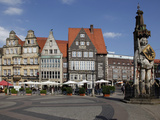 Market Square with Roland Statue, Old Town, UNESCO World Heritage Site, Bremen, Germany, Europe Photographic Print by Hans-Peter Merten