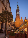 Town Hall at Dusk, Rynek (Old Town Square), Wroclaw, Silesia, Poland, Europe Photographic Print by Frank Fell