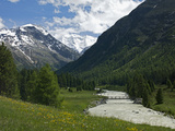 Bernina Massif, Canton Graubunden, Swiss Alps, Switzerland, Europe Photographic Print by Angelo Cavalli