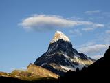 Cloud Above the Matterhorn, Zermatt, Valais, Swiss Alps, Switzerland, Europe Photographic Print by Hans-Peter Merten