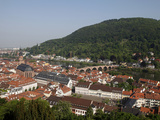 Old Town and River Neckar, Heidelberg, Baden-Wurttemberg, Germany, Europe Photographic Print by Hans-Peter Merten
