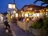 Taverna at Dusk, Argassi, Zante, Ionian Islands, Greek Islands, Greece, Europe Photographic Print by Frank Fell