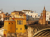 Buildings on the Bank of the Guadalquivir River, Seville, Andalucia, Spain, Europe Photographic Print by  Godong